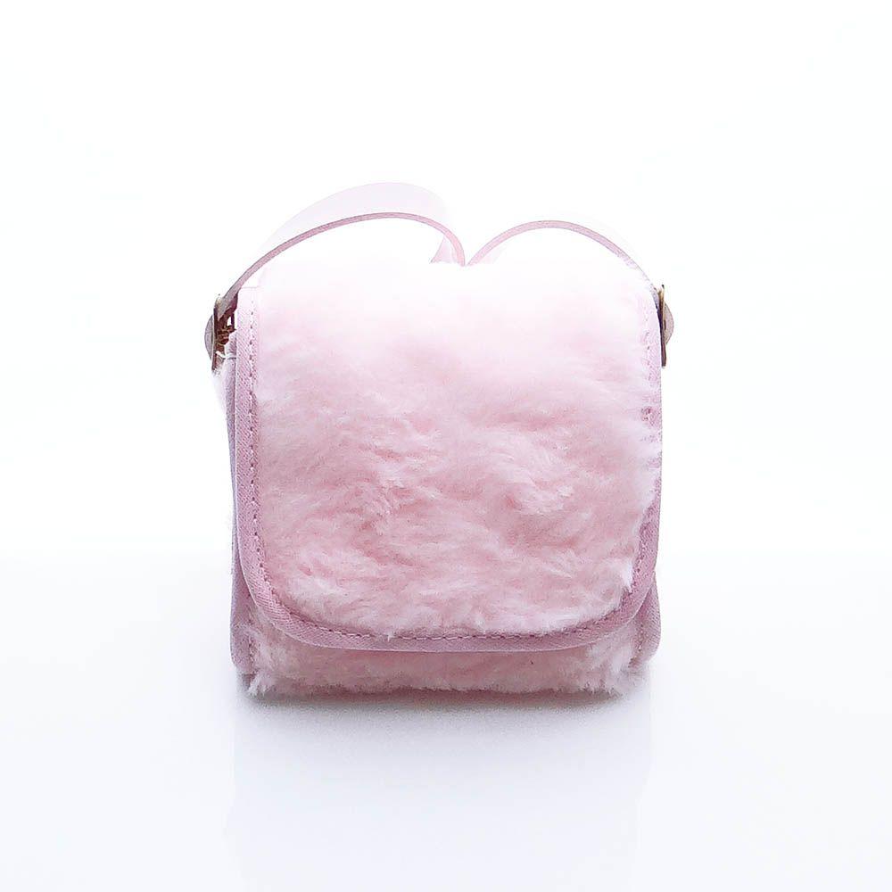 Bolsa Clutch Bebê em Pelúcia Rosa