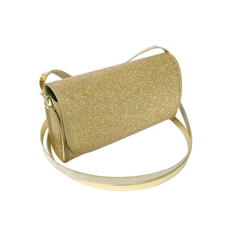 Bolsa Clutch Glitter Dourada