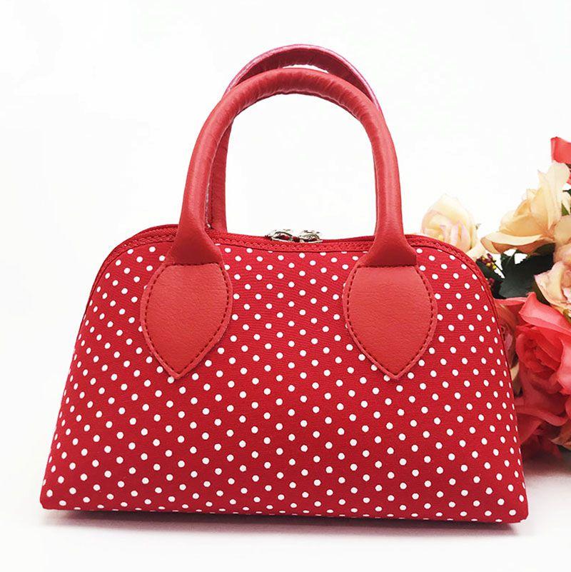 Bolsa Coleção Ester Poá Vermelho