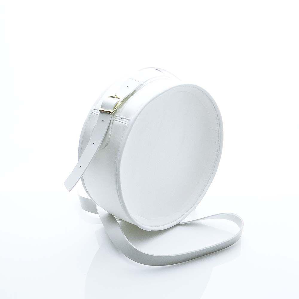 Bolsa em Formato Cantil Branca