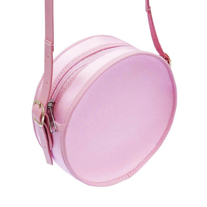 Bolsa em Formato Cantil Rosa