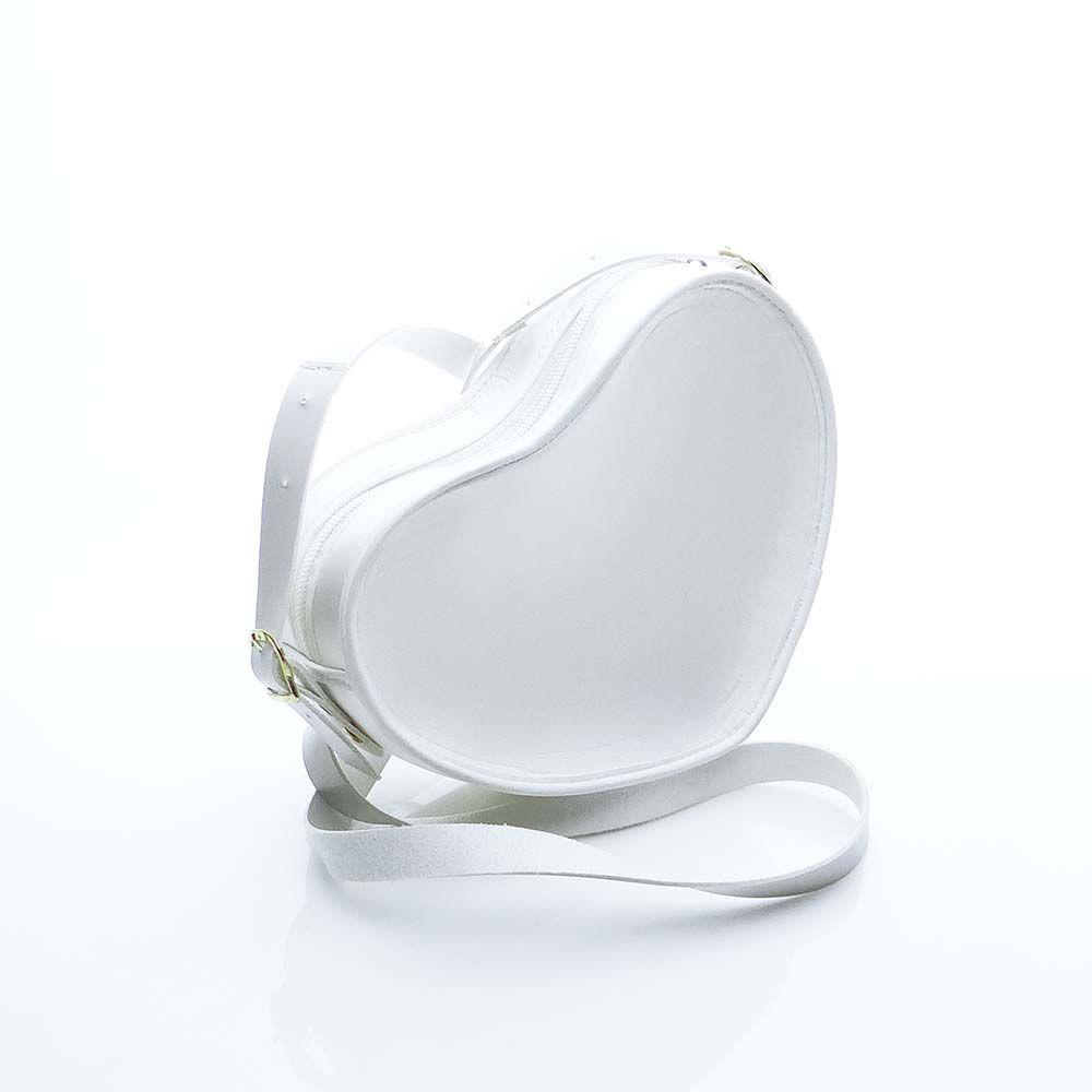 Bolsa em Formato Coração Branca