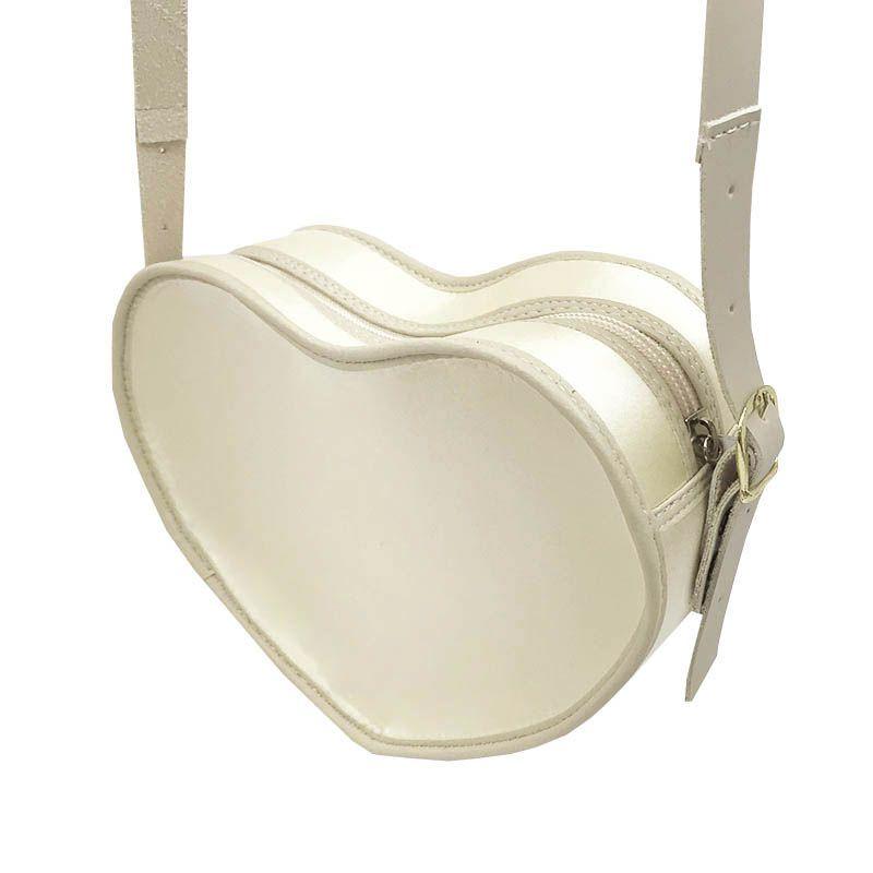 Bolsa em Formato Coração Pérola