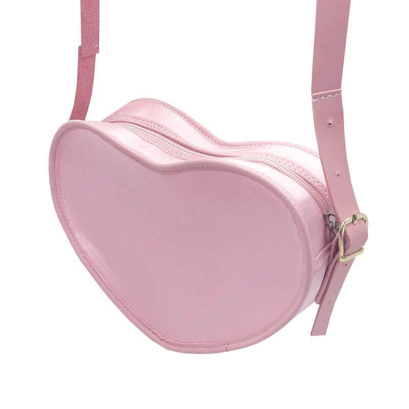 Bolsa em Formato Coração Rosa