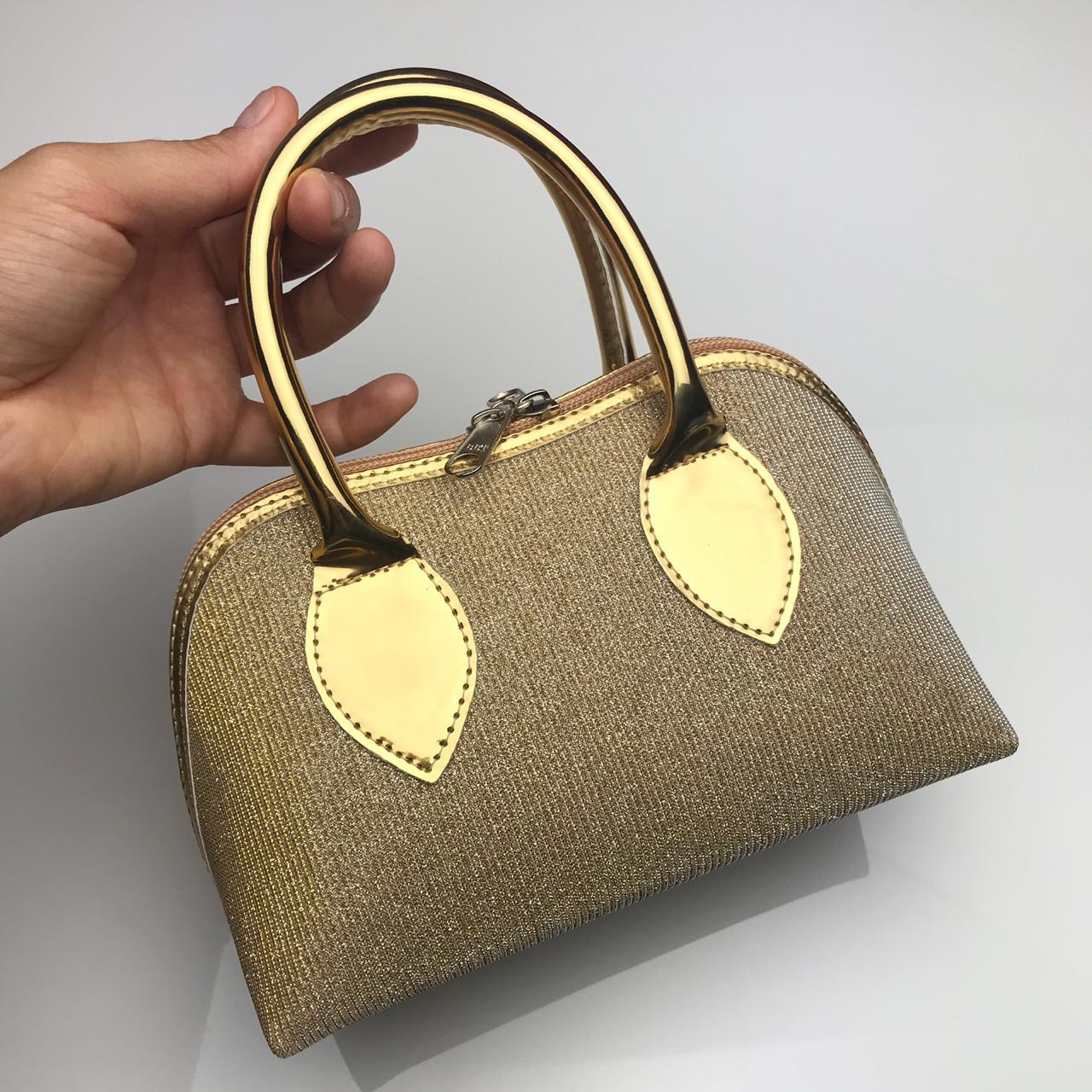 Bolsa Lonita Glitter Dourada