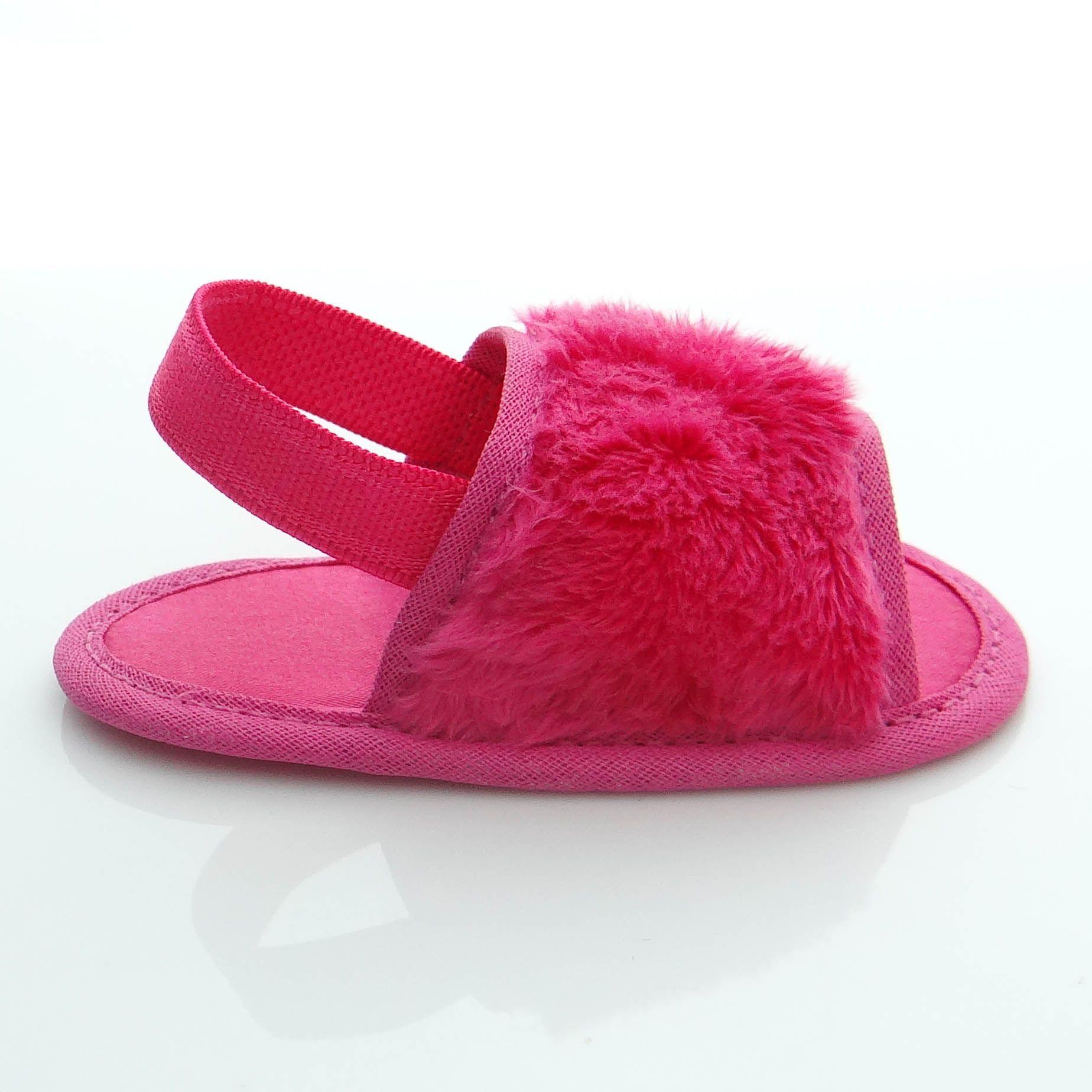 Chinelo Slide Pink em Pelúcia