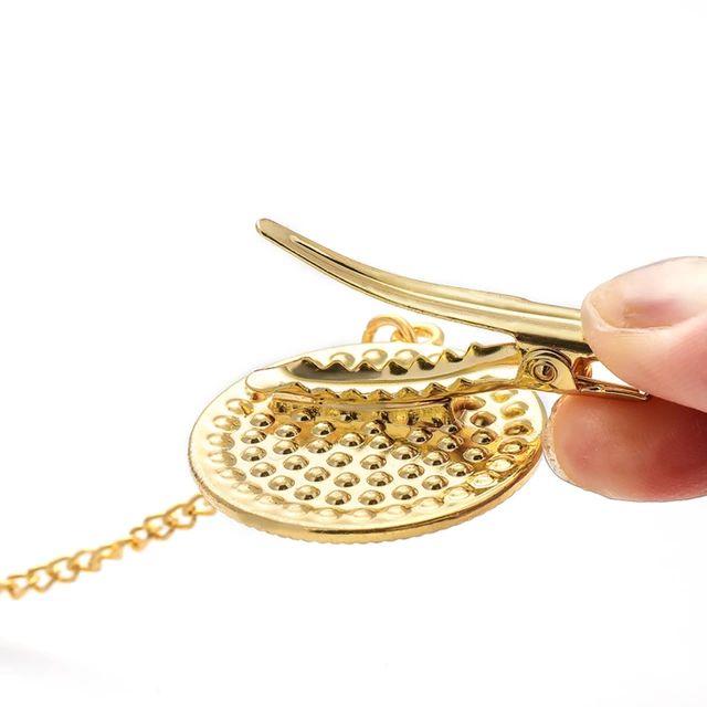 Chupeta Customizada em Strass com Prendedor Personalizada Coroa Dourada