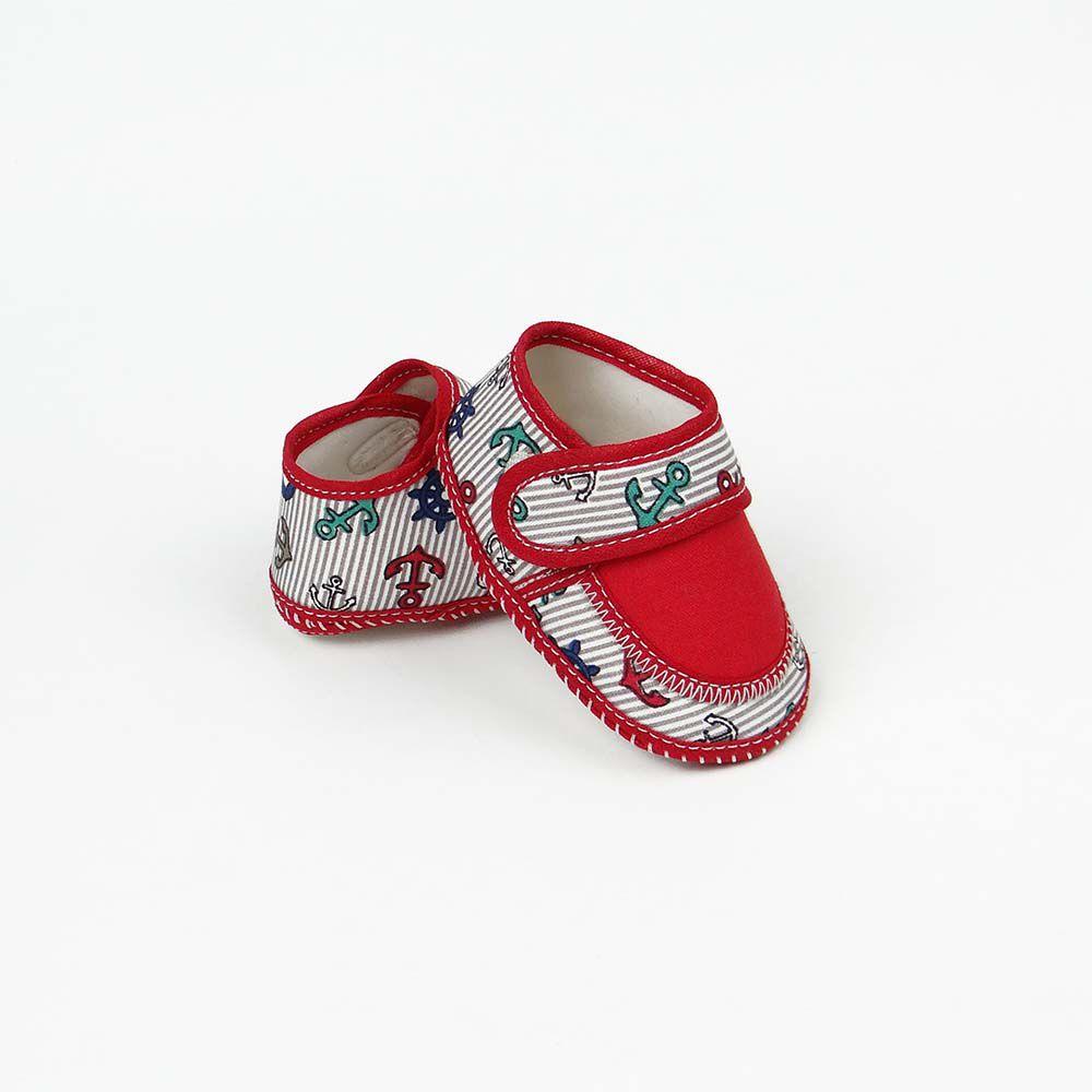 Coleção Rouxinol Sapatinho Menino Vermelho Marinheiro