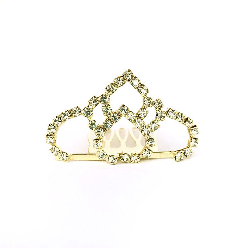 Coroa Strass Dourada 2 Unidades 5x3cm