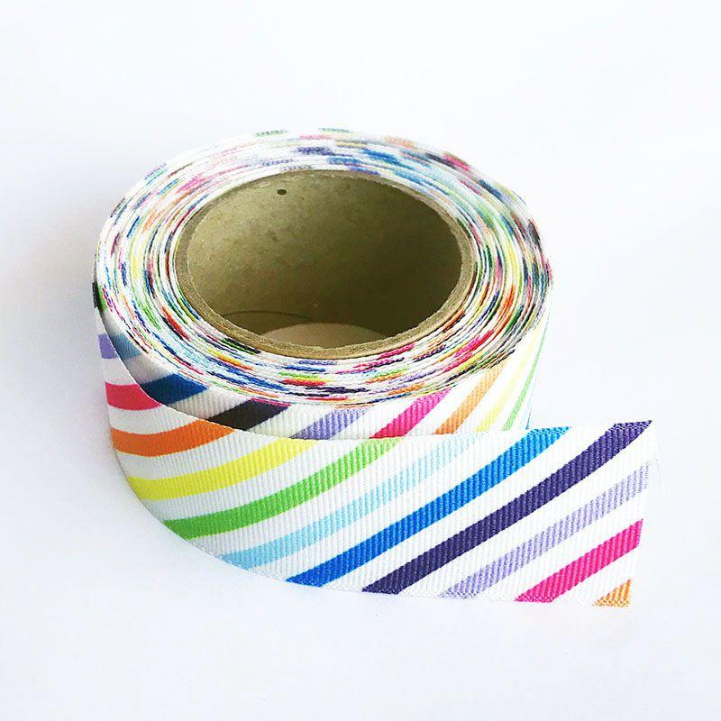 Fita Gorgurão Listras Colorida 38mm 1 metro.
