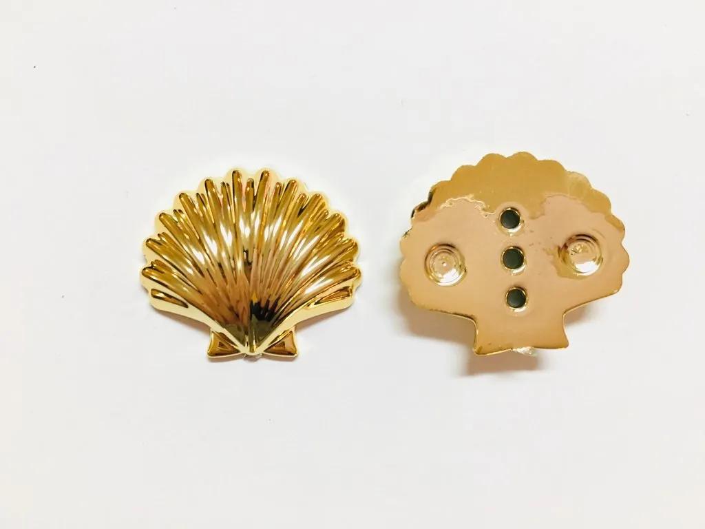 Kit 10 Apliques Concha Dourada