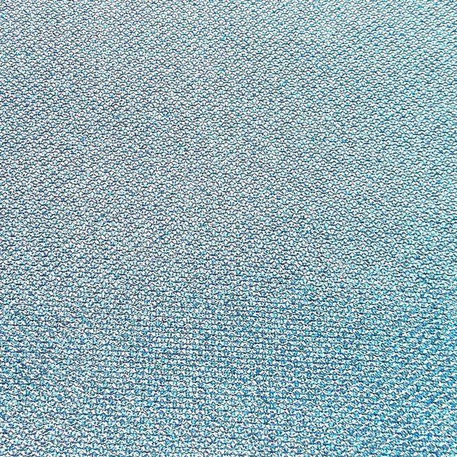 Lonita Glitter Azul Celeste Riscas Com Renda