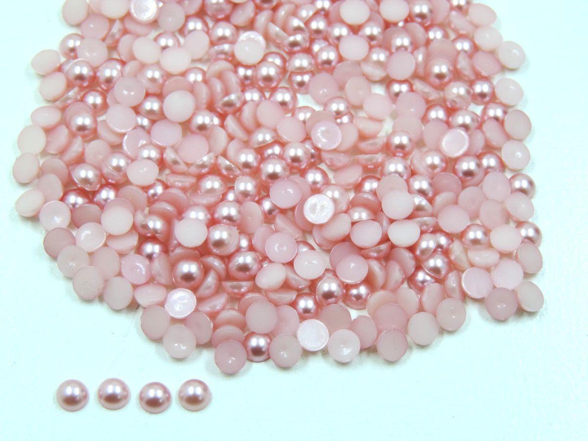 Meia Pérola 5mm Rosa Seco Rosê