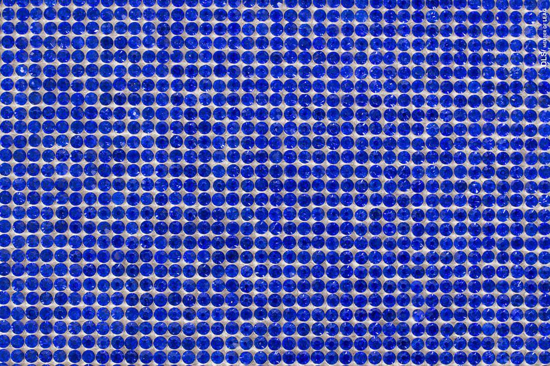Micro Manta de Strass Azul Bic