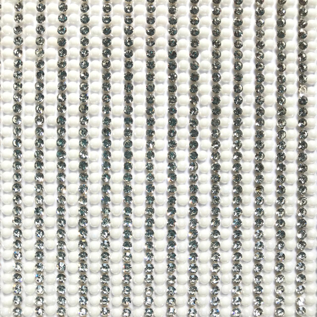 Micro Manta de Strass Pérola Branca