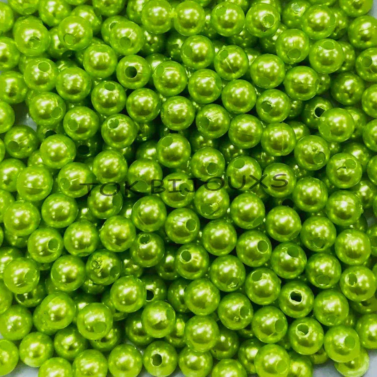 Pérola Inteira 4mm Verde Claro