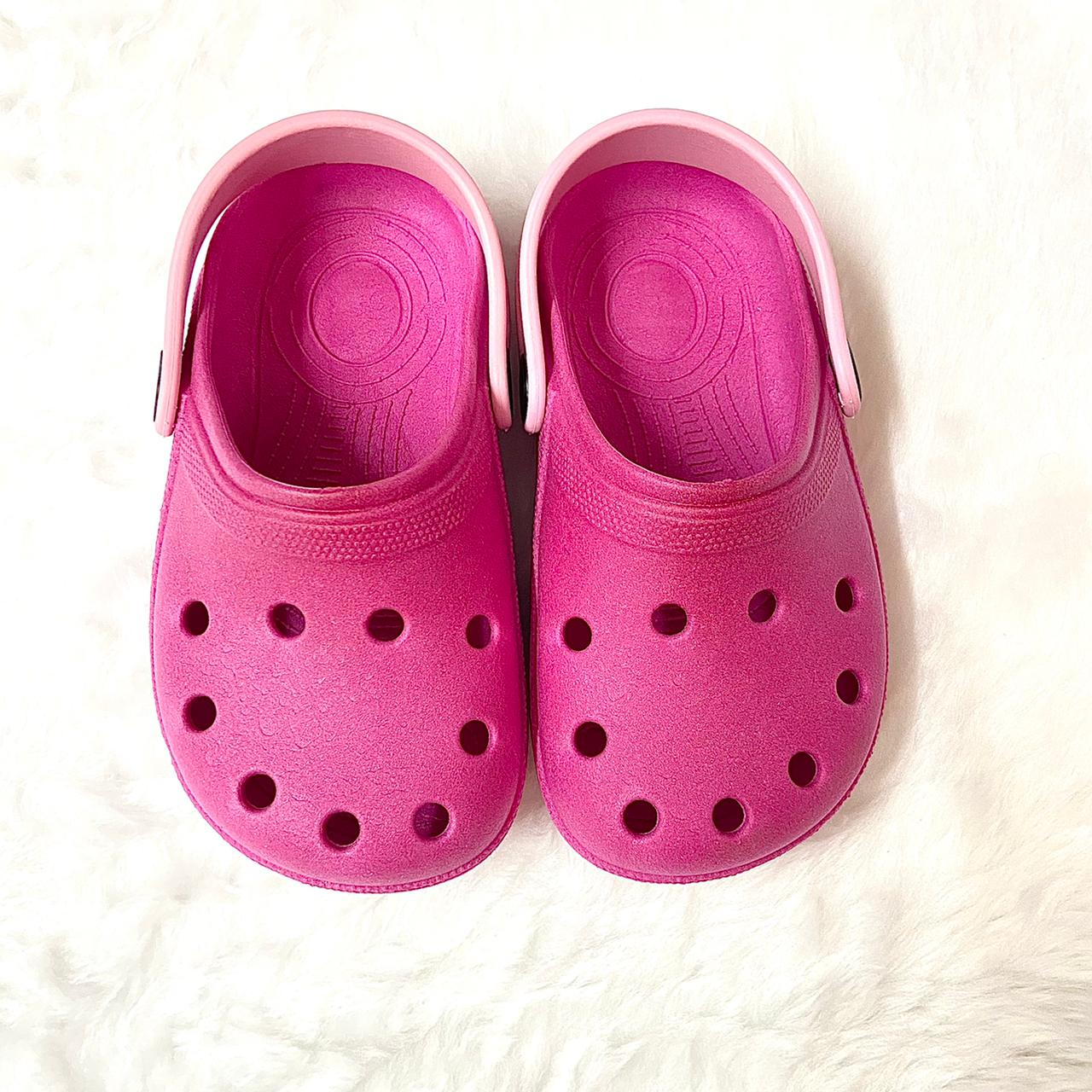 Sandália Crocs Babuche Pink com Rosa