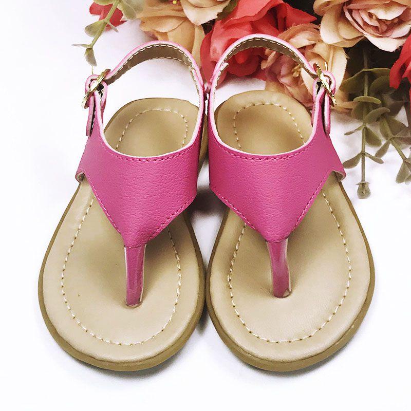Sandália Rasteira de Dedo Pink
