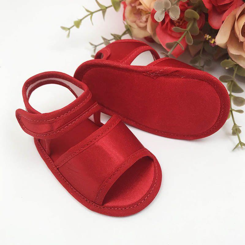 Sandália Vermelha em Cetim