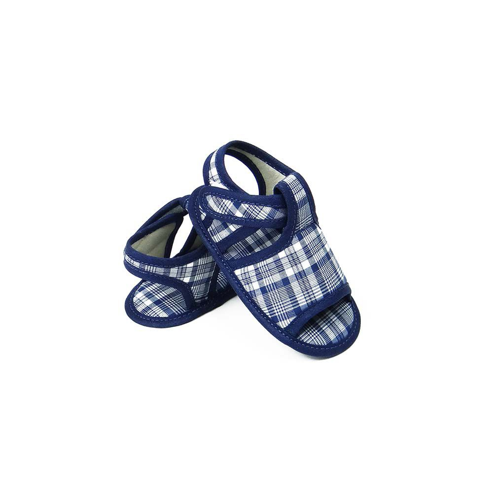 Sandália Xadrez Azul Marinho