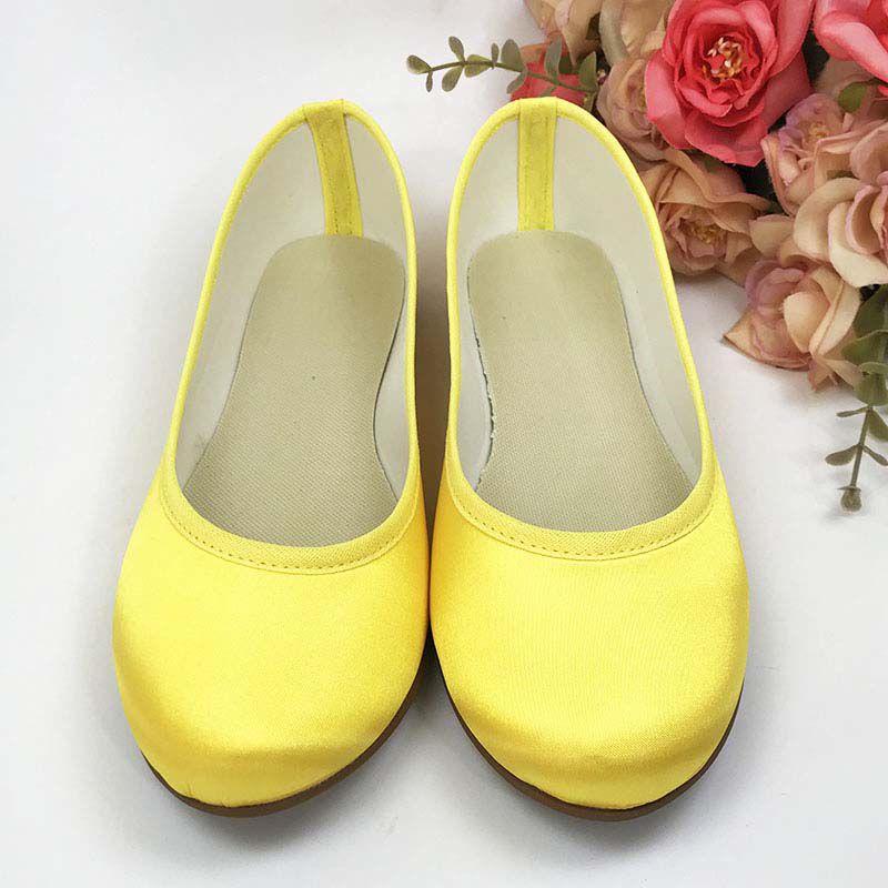 Sapatilha Amarelo em Cetim