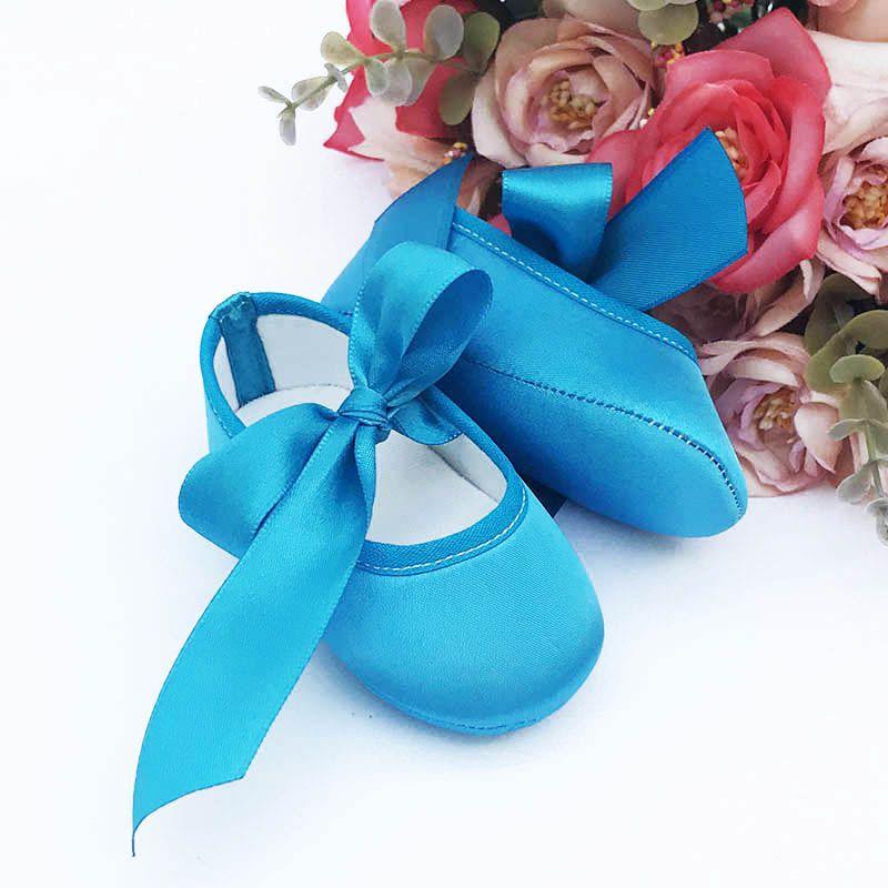 Sapatilha Azul Frozen de Cetim com Fecho em  Fita