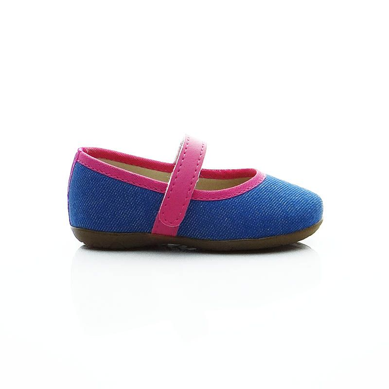Sapatilha Jeans Pink com Solado de Borracha