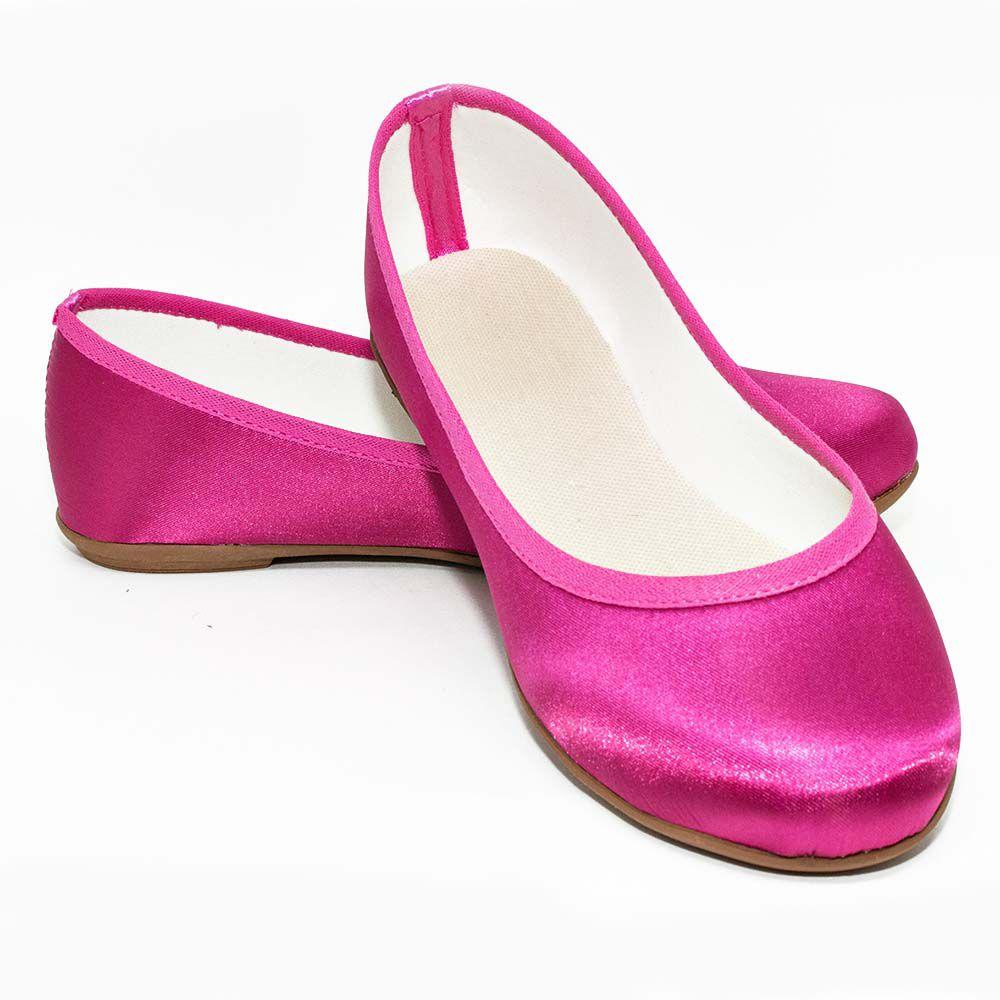 Sapatilha Pink em Cetim