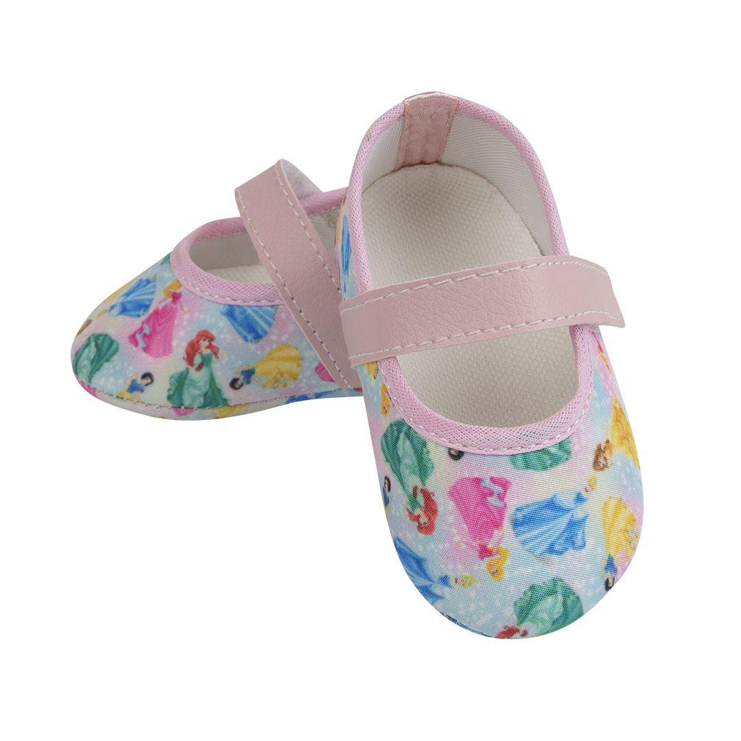 Sapatilha Princesas Disney com Fecho em  Velcro