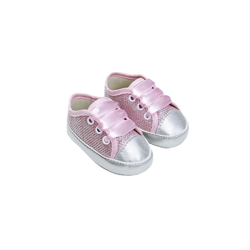 Tênis All Star Glitter Rosa/Prata