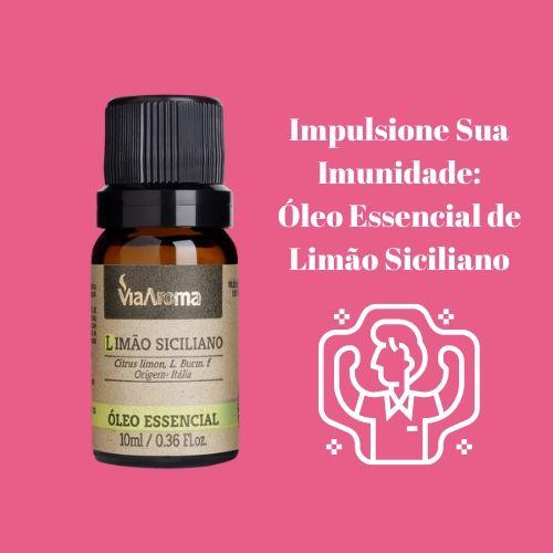 Via Aroma Óleo Essencial Natural de Limão Siciliano