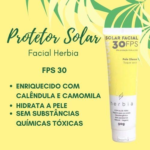 Protetor Solar Facial Herbia