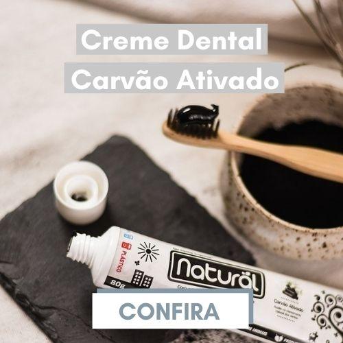 Creme dental carvão ativado Orgânico Natural