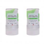 Alva Kit 2 Desodorantes Naturais e Veganos Stick Cristal 120g
