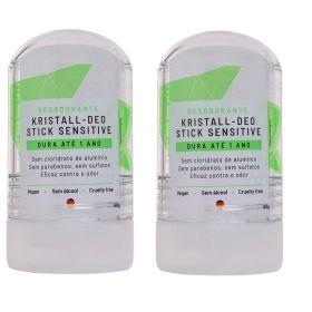 Alva Kit 2 Desodorantes Naturais e Veganos Stick Cristal 60g