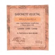 Arte dos Aromas Sabonete Vegetal Natural de Argila Amarela 100g