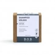 BOB Shampoo Sólido Detox Em Barra com Argila Negra, Carvão Ativado e Eucalipto 75g