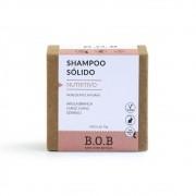 BOB Shampoo Sólido Nutritivo Em Barra com Argila Branca, Ylang Ylang e Gerânio 75g