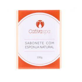 Cativa Natureza Sabonete Esfoliante Natural com Esponja Natural 100g
