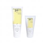 Herbia Kit Protetor Solar Facial Peles Mistas e Corporal