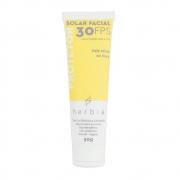 Herbia Protetor Solar Facial Natural FPS 30 para Peles Mistas e Secas 50g