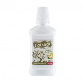 Orgânico Natural Enxaguante Bucal Natural Contente Limão e Gengibre 250ml