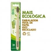 Orgânico Natural Escova Dental Natural de Bambu 34 Tufos 1un