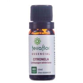 Terra Flor Óleo Essencial Natural de Citronela 10ml