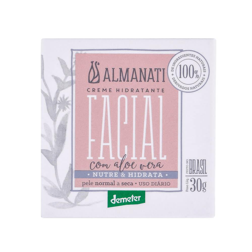 Almanati Creme Hidratante Facial com Aloe Vera 30g