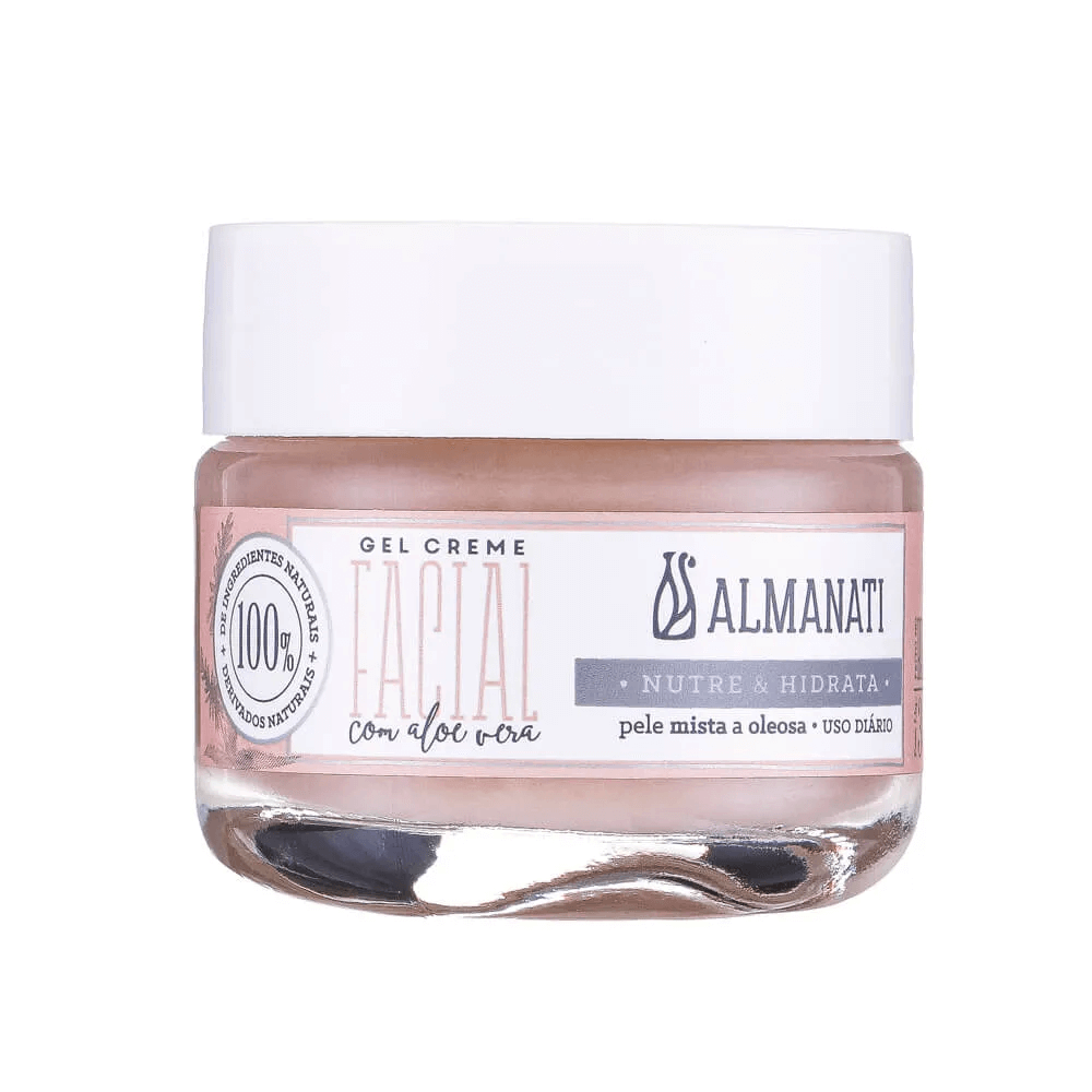 Almanati Gel Creme Facial Natural Pele Mista e Oleosa 30g