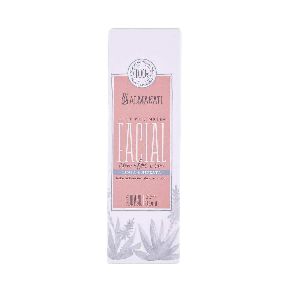 Almanati Leite de Limpeza Facial com Aloe Vera Uso Diário 55ml