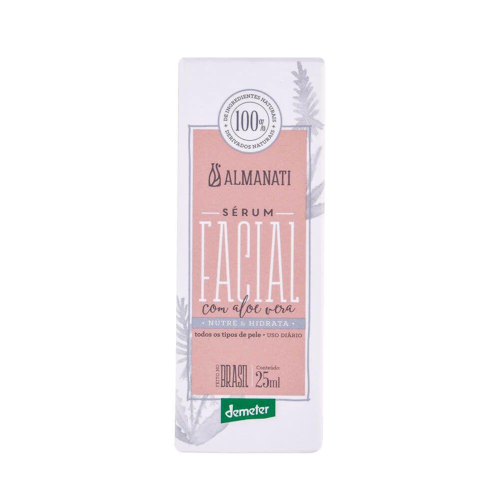 Almanati Sérum Facial Natural com Aloe Vera 25ml