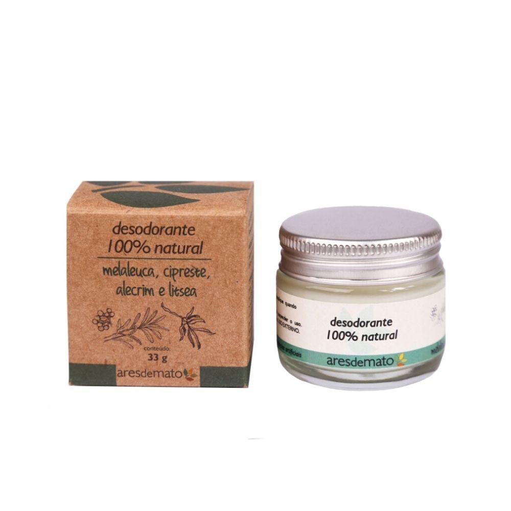 Ares de Mato Desodorante Natural em Creme de Melaleuca, Cipreste e Alecrim 33g