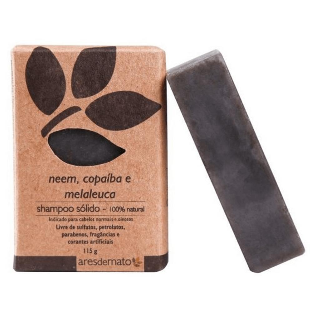 Ares de Mato Shampoo Sólido Natural de Neem, Copaíba e Melaleuca 115g